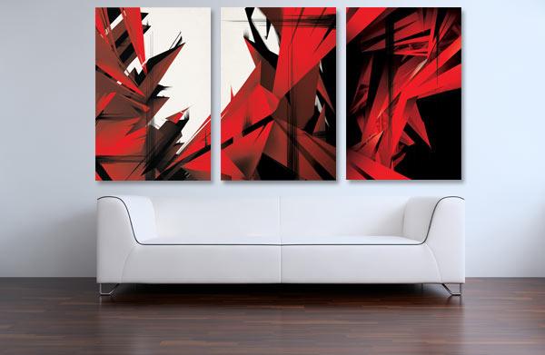Une d coration design avec un tableau toile new york style et for Tableau deco design toile