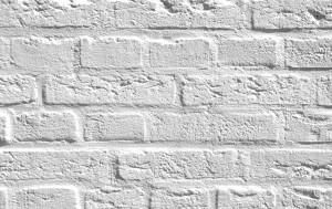 Mur de brique blanche