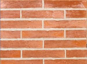 Mur de brique rouge