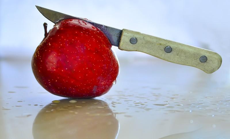 Decoupe de pomme couteau