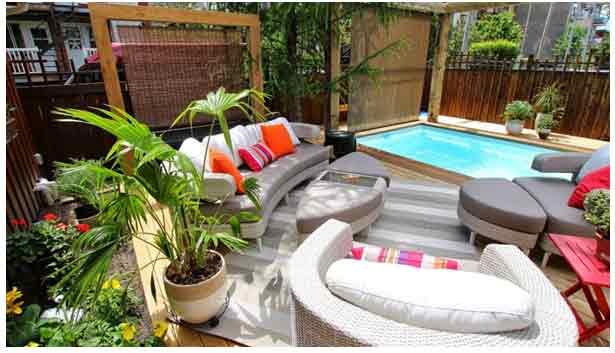 L ameublement et la d coration d un patio montr al un for Meuble patio montreal