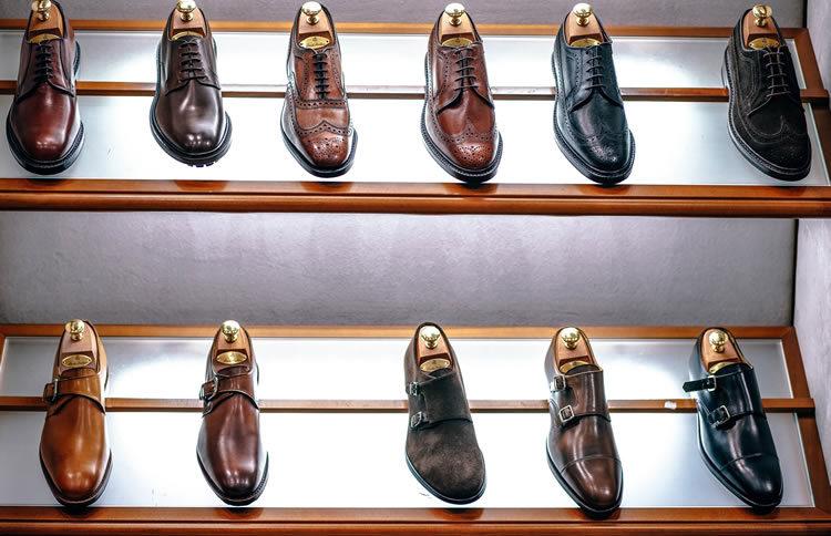 chaussures en cuir pour homme